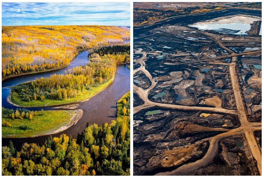 before and after tar sands